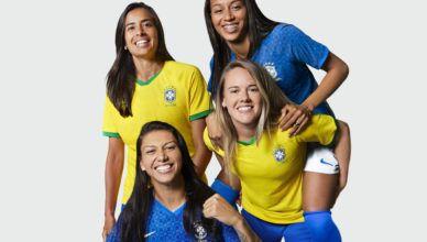 Seleção feminina de futebol ganha uniformes exclusivos para a Copa!