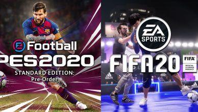 FIFA 20 x PES 2020 – primeiras informações