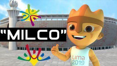 Milco e os mascotes dos Jogos Panamericanos